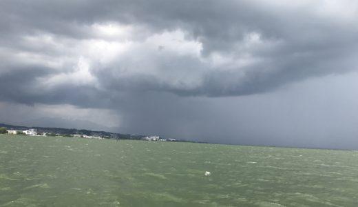 1ヶ月ぶりの琵琶湖は、優しくなかった