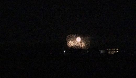 8月1日、PLの花火を家の近所で鑑賞