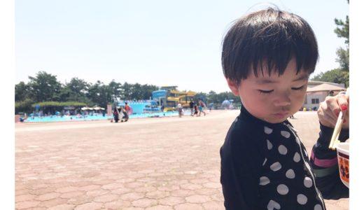 暑い日はこれに限る!!浜寺プールで水遊び