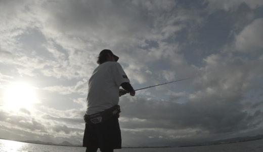 お盆休み1日目は琵琶湖で台風前のバス釣り