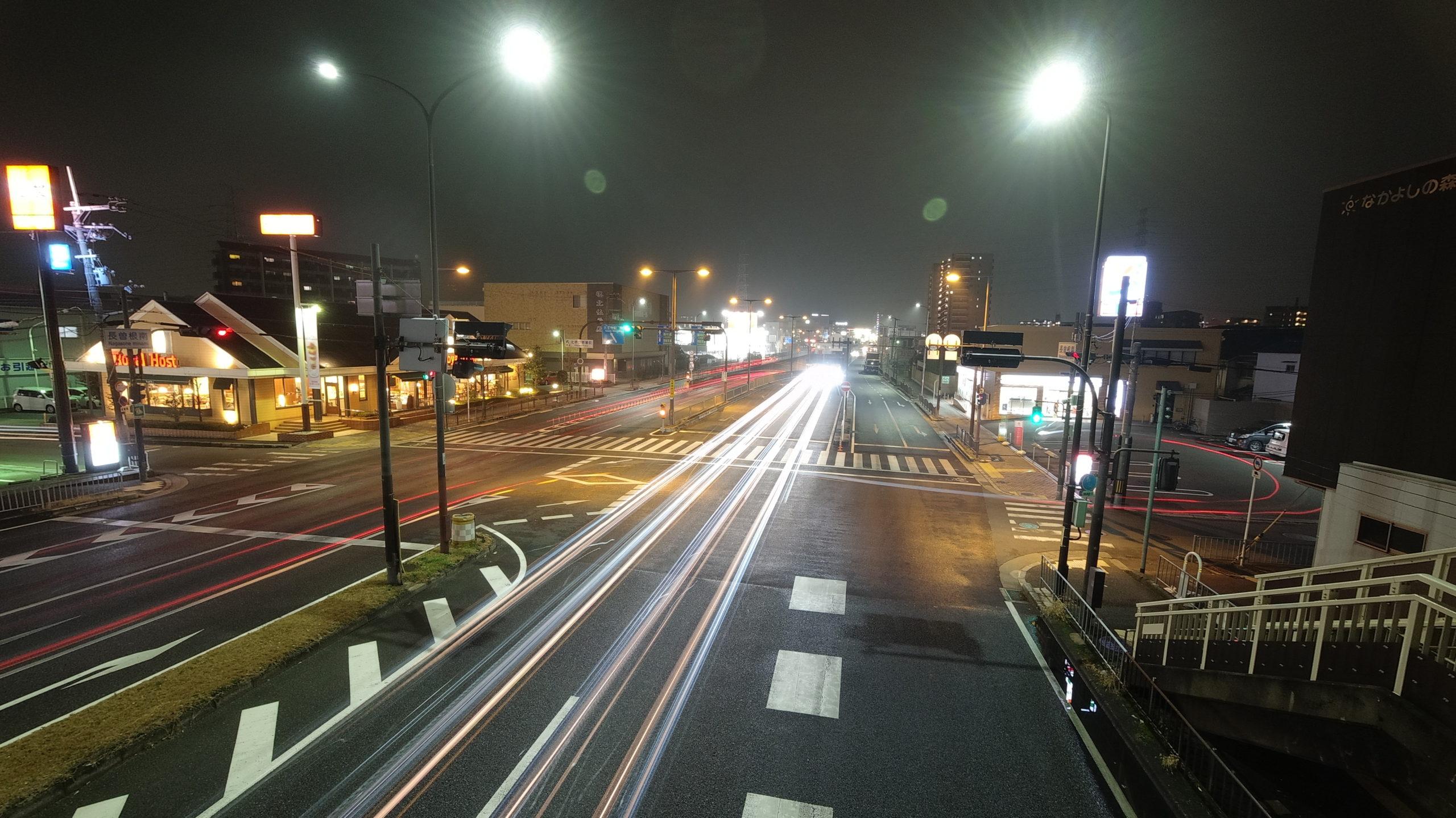DJI Osmoactionで車の光跡撮影してみた、、、🙅♂️